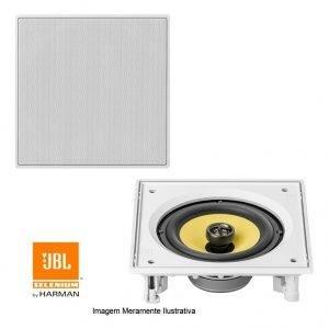 Caixa De Som JBL de Embutir Arandela Ci6S Quadrada 120w RMS